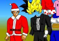 Vistiendo a Son Goku para la fiesta de Yamcha