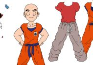 Vestir a Krilin, el mejor amigo de Goku