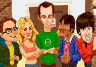 Puzzle de las caricaturas de Big Bang Theory