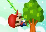 Imagen del juego: Mario saltando en la jungla