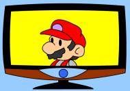 Mario Flat Screen