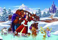 Puzzle de Bella y Bestia en la nieve