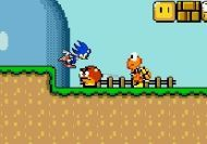 Sonic in Mario World (Monoliths Mario World 2)