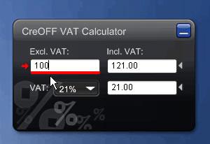 CreOFF VAT Calculator