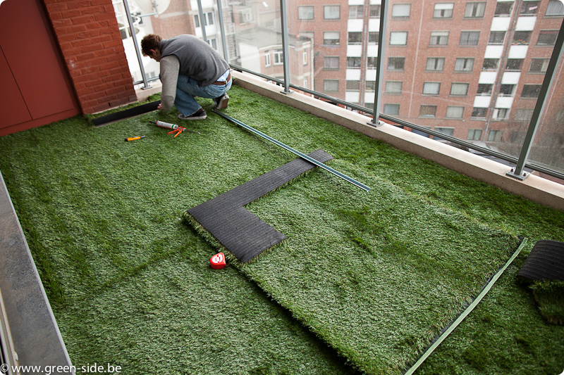 Tutoriel pose de gazon artificiel sur terrasse greenside blog - Terrasse avec gazon synthetique ...