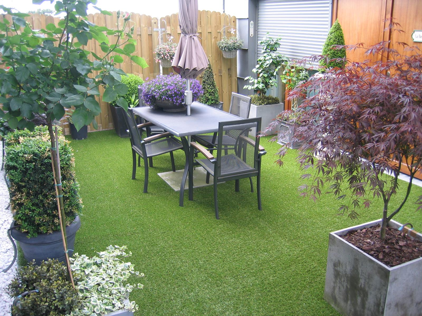 Exemples de pose de gazon synth tique chez nos clients greenside blog - Terrasse avec gazon synthetique ...