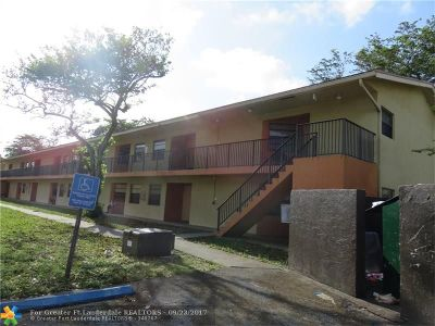 Tamarac FL Condo/Townhouse Sold: $63,000