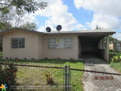 Fort Lauderdale FL Single Family Home Sold: $90,000