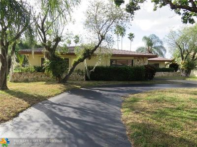 Coral Springs FL Single Family Home Pending Sale: $340,000
