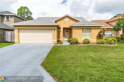 Royal Palm Beach FL Single Family Home For Sale: $314,900
