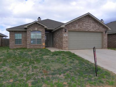 Lubbock TX Single Family Home Sold: $154,000