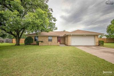 Wichita Falls TX Single Family Home Active-Contingency: $184,000