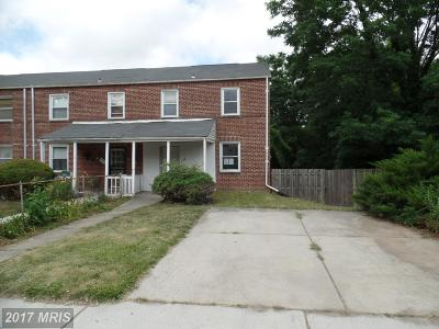Baltimore MD Single Family Home For Sale: $128,000