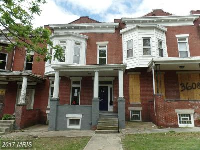 Baltimore MD Single Family Home Sale Pending: $25,000
