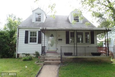 Baltimore MD Single Family Home Sale Pending: $53,000
