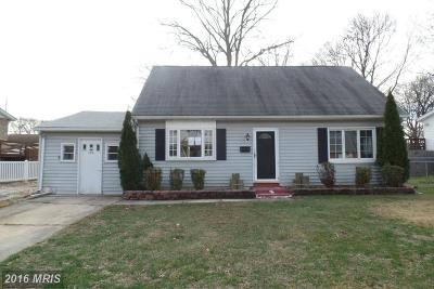Middle River MD Single Family Home Sale Pending: $153,000