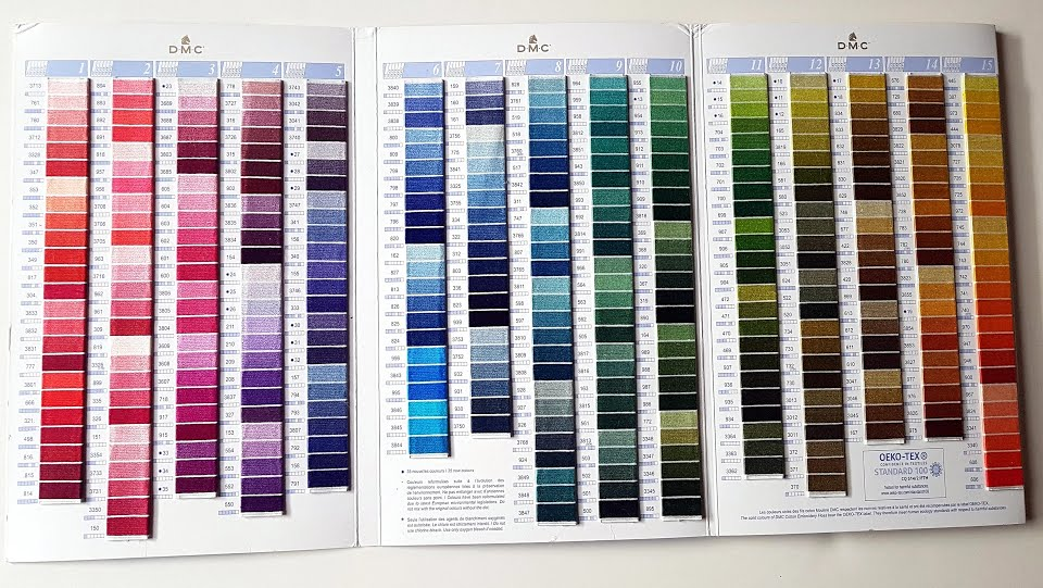 photograph regarding Dmc Floss Color Chart Printable known as How in direction of Examine a Thread Coloration Card