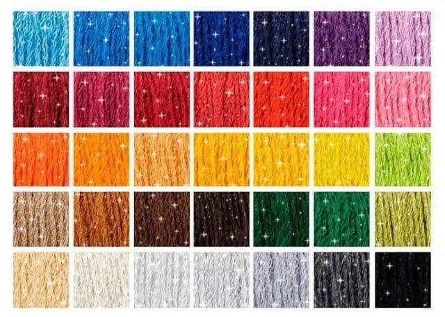 full set of the 35 colours 1 skein of each DMC Mouline Etoile Sparkling Thread