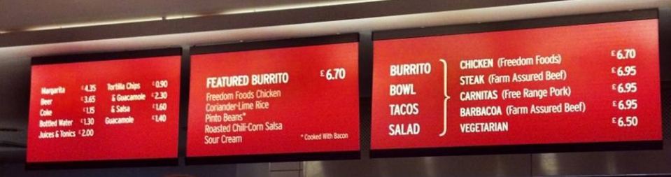 Streamlined Digital Menu board System
