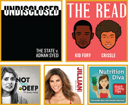 Shows: Undisclosed, The Read, Not Too Deep, Jillian Michaels Show, Nutrition Diva