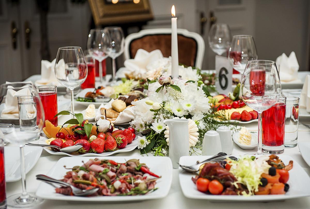 Свадебные меню в домашних условиях