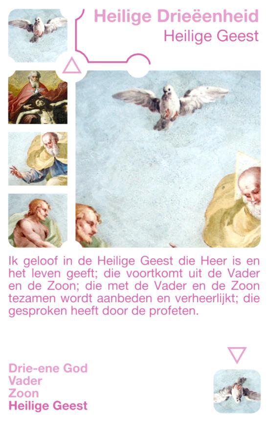 Kwartetkaart Heilige Geest