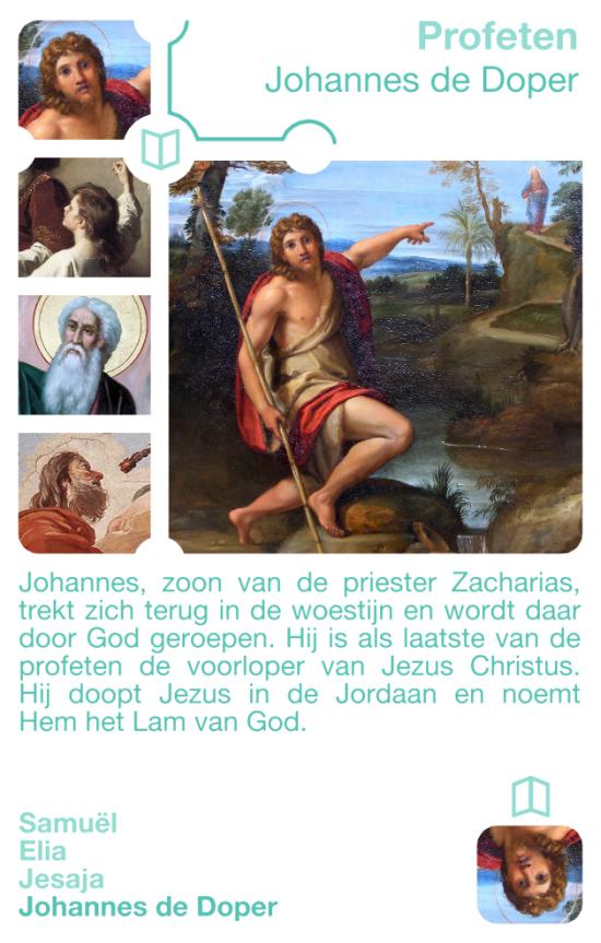 Kwartetkaart Johannes de doper