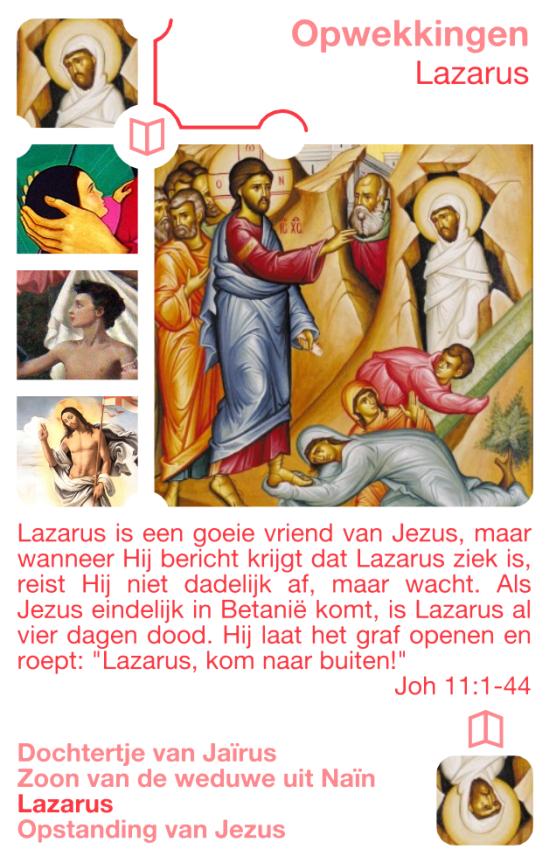Kwartetkaart Lazarus