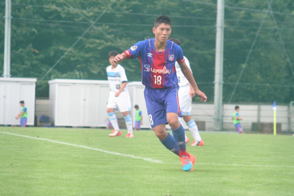 2ゴールを決めたFC東京U-15深川の小松慧選手