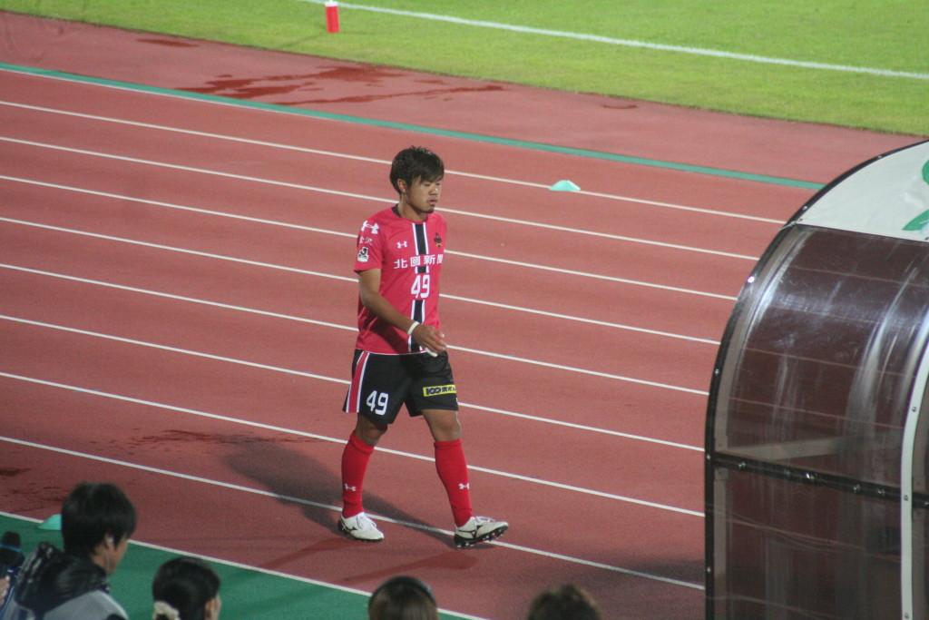 最後の交代枠で呼ばれた田中パウロ淳一選手