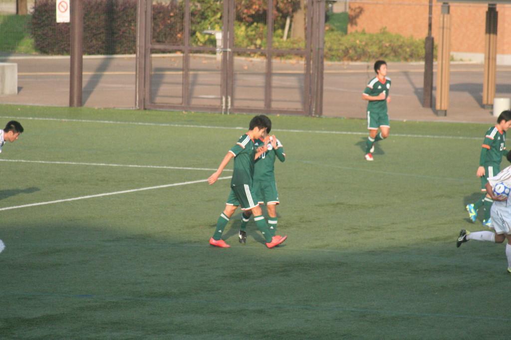 山口晃大選手がロスタイムにハットトリックを達成した