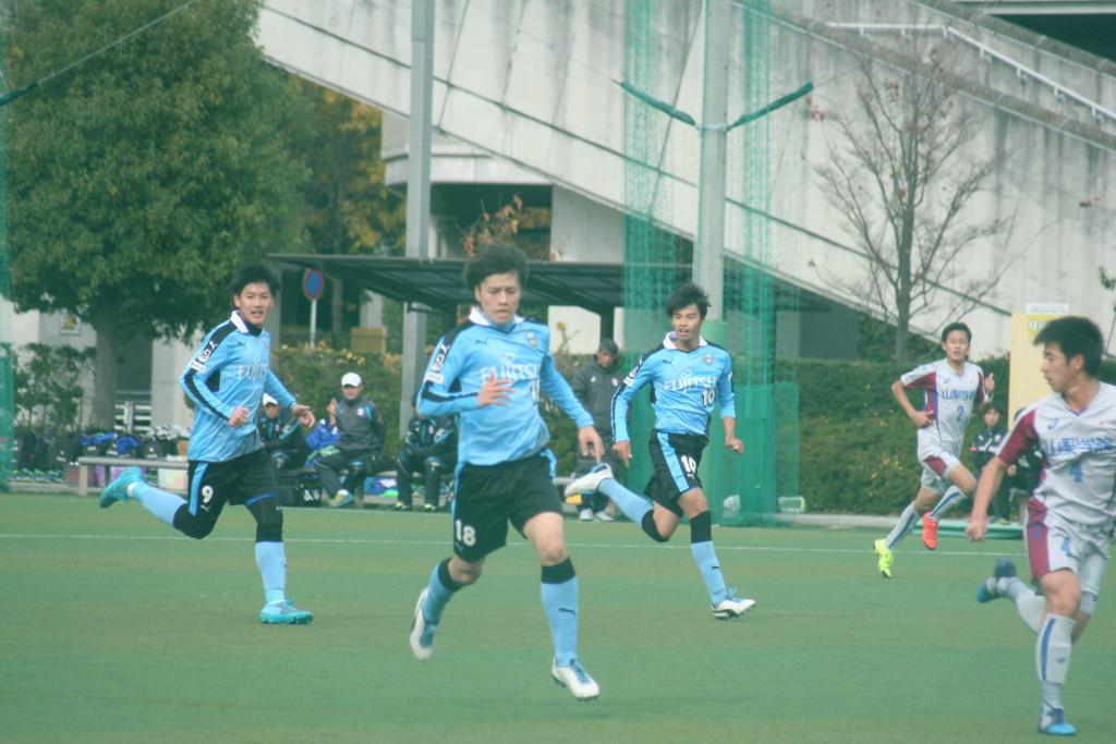 田中碧選手。積極的に攻撃にからんだ