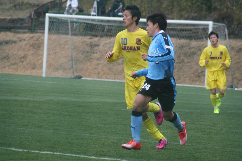 左SBで先発した川崎晶弘選手
