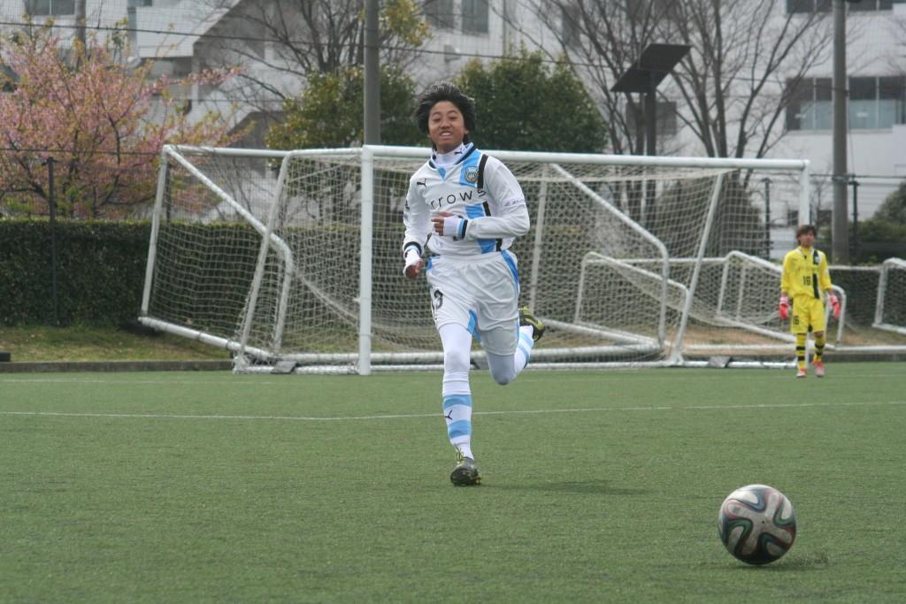 練習試合に出場した安田捷人選手