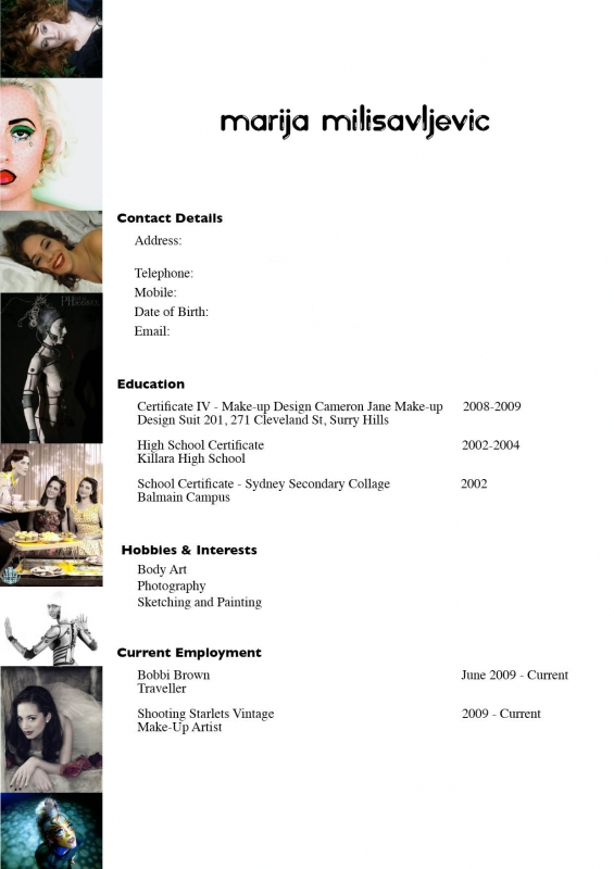 make up artist resume choice image resume format examples 2018