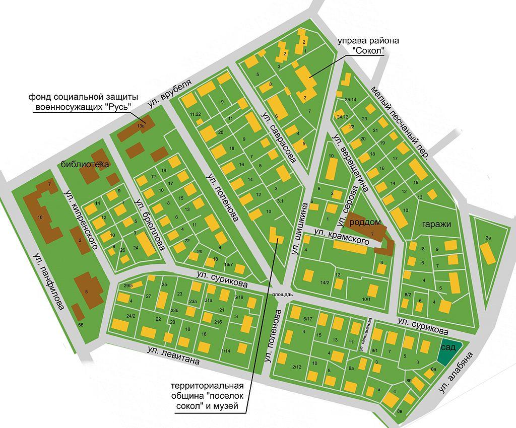 Поселок на карте своими руками