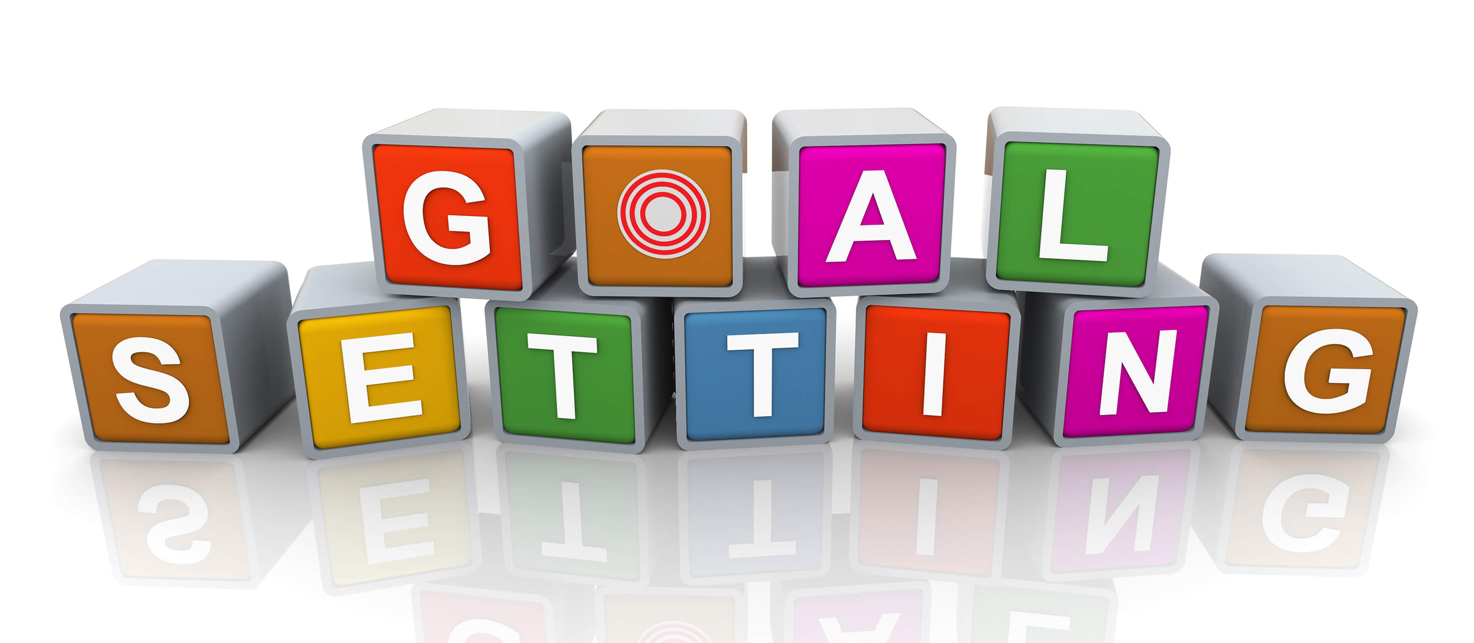 3d colorful buzzword goal setting