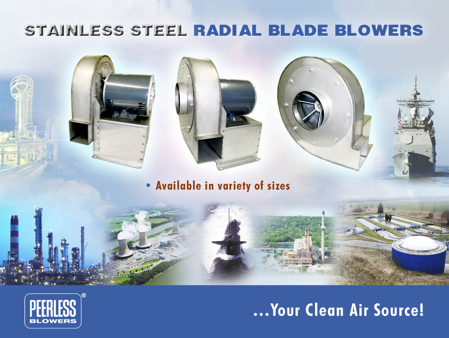 Stainless Steel Inline Fan Motors : Peerless blowers our products centrifans