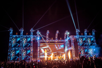 Adventure Club performing at Sunset Music Festival 2014