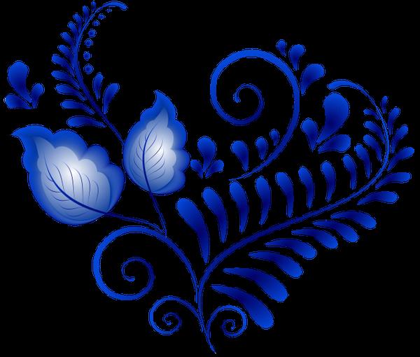 Орнаменты и узоры по гжели