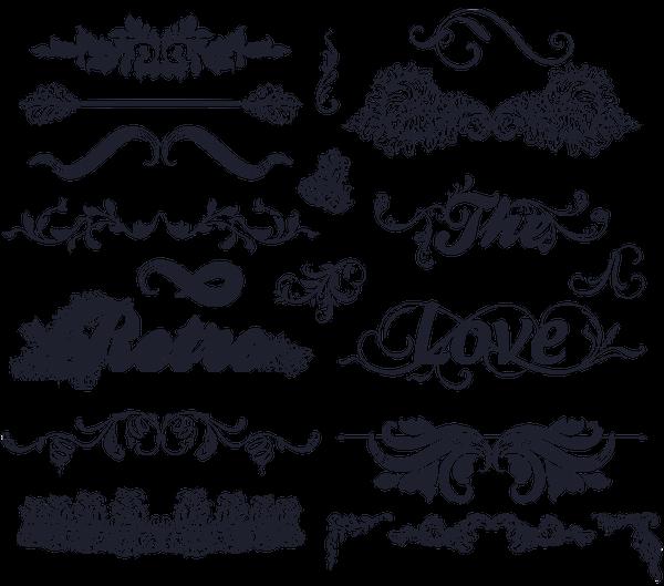 Эскиз узоров для надписей