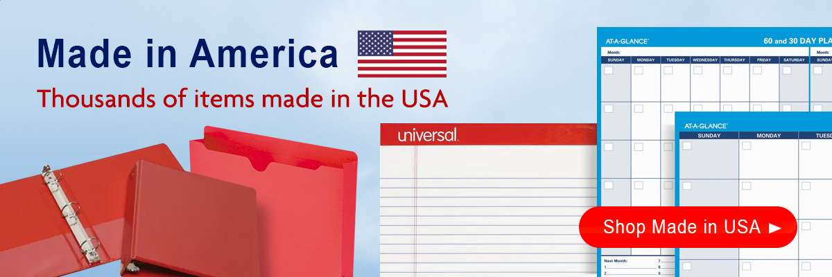 Made in America Office Supplies, Made in America Janitorial Supplies