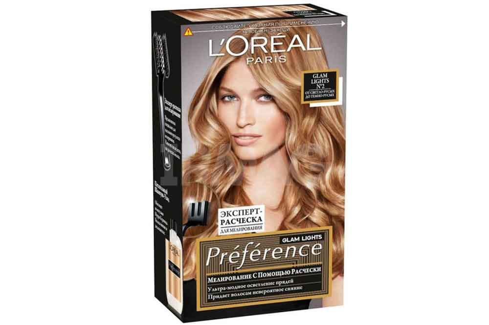 Краска LOreal Preference Glam Lights 2 свететло русый -темно русый Бельгия