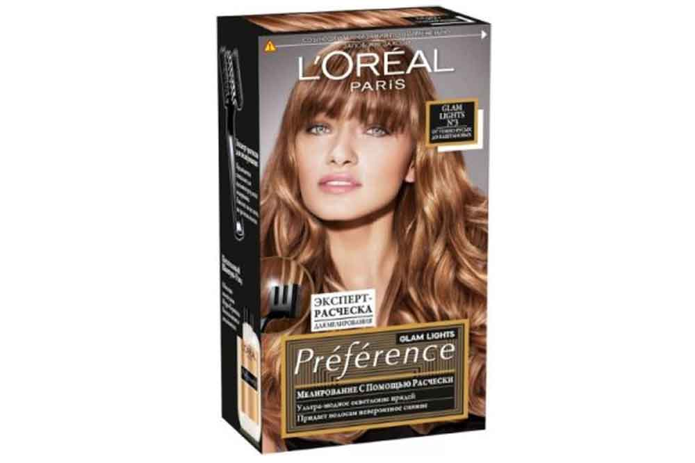Краска LOreal Preference Glam Lights 3 темно-русый каштан Бельгия