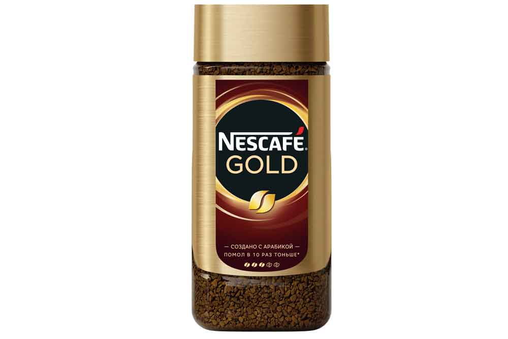 Кофе Nescafe Gold 190г ст/б растворимый сублимированный Россия