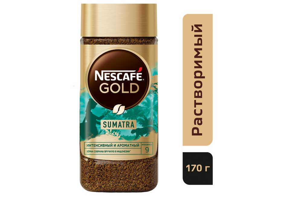 Кофе Nescafe Gold Origins Sumatra 170г ст/б растворимый Нестле Кубань Россия NESTLE