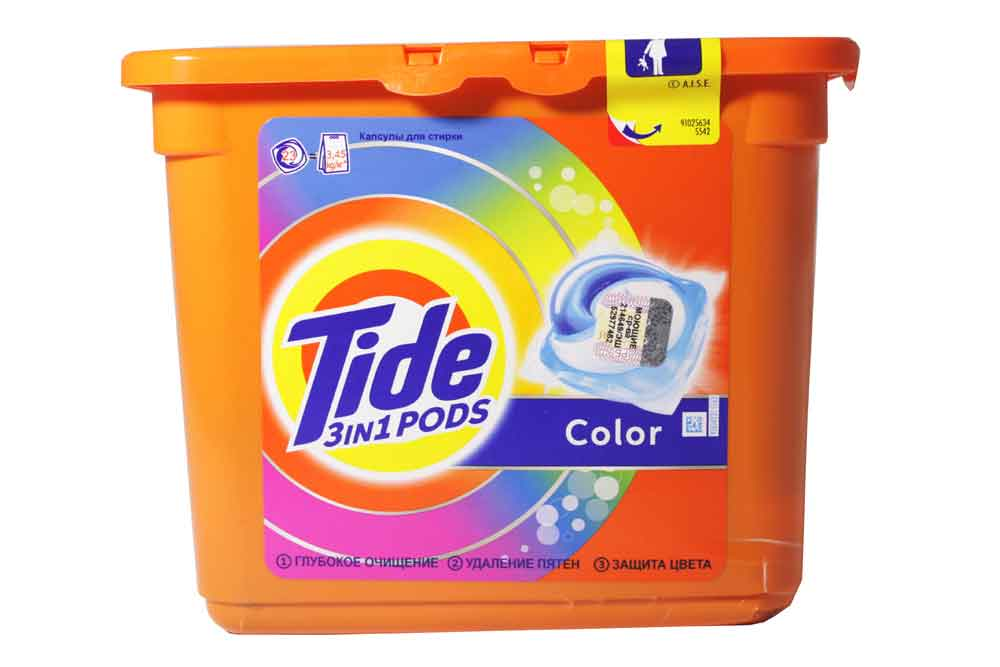 Моющее средство для стирки TIDE Color капсулы 23шт. Франция