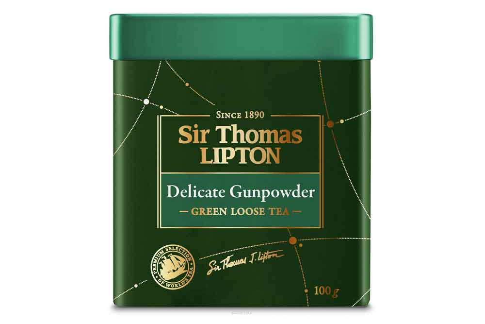 Чай зеленый Sir Thomas Lipton Delicate Gunpowder 100г Россия