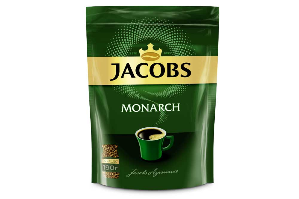 Кофе Jacobs Monarch 190г ПЭТ натуральный раств./сублимир. Россия