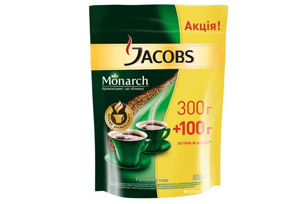 Кофе Jacobs Monarch 400г растворимый сублимированный Россия